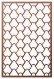 De vectorlaser sneed paneel Patroonmalplaatje voor decoratief paneel Muurpanelen of verdeling De figuurzaagmatrijs sneed ornament vector illustratie