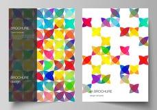 De vectorlay-out van A4 formatteert de moderne ontwerpsjablonen van dekkingsmodellen voor brochure, tijdschrift, vlieger, boekje, vector illustratie