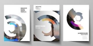 De vectorlay-out van A4 formatteert de moderne ontwerpsjablonen van dekkingsmodellen voor brochure, tijdschrift, vlieger, boekje, stock illustratie