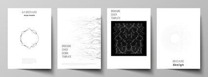 De vectorlay-out van A4 formatteert de moderne ontwerpsjablonen van dekkingsmodellen voor brochure, tijdschrift, vlieger, boekje  royalty-vrije illustratie