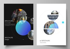 De vectorlay-out van A4 formatteert de moderne ontwerpsjablonen van dekkingsmodellen voor brochure, vlieger, boekje Eenvoudig fut vector illustratie