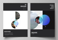 De vectorlay-out van A4 formatteert de moderne ontwerpsjablonen van dekkingsmodellen voor brochure, vlieger, boekje Eenvoudig fut stock illustratie