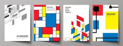 De vectorlay-out van A4 formatteert de moderne ontwerpsjablonen van dekkingsmodellen voor brochure, vlieger, boekje, jaarverslag royalty-vrije illustratie