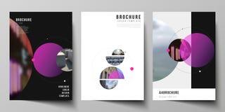 De vectorlay-out van A4 formatteert de moderne ontwerpsjablonen van dekkingsmodellen voor brochure, vlieger, boekje, rapport Eenv royalty-vrije illustratie