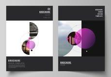 De vectorlay-out van A4 formatteert de moderne ontwerpsjablonen van dekkingsmodellen voor brochure, vlieger, boekje, rapport Eenv stock illustratie