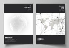 De vectorlay-out van A4 de modellen van de formaatdekking ontwerpt malplaatjes voor brochure, vlieger, boekje Futuristisch ontwer royalty-vrije illustratie