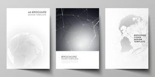 De vectorlay-out van A4 de modellen van de formaatdekking ontwerpt malplaatjes voor brochure, vlieger, boekje Futuristisch ontwer stock illustratie