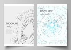 De vectorlay-out van A4 de modellen van de formaatdekking ontwerpt malplaatjes voor brochure, vlieger, boekje, rapport De aanslut vector illustratie