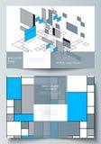 De vectorlay-out van twee A4 formatteert de moderne ontwerpsjablonen van dekkingsmodellen voor bifoldbrochure, vlieger, boekje Sa vector illustratie