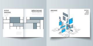De vectorlay-out van twee A4 formatteert de moderne ontwerpsjablonen van dekkingsmodellen voor bifoldbrochure, vlieger, boekje Sa royalty-vrije illustratie
