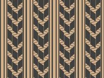De vectorlijn van het van het achtergrond damast naadloze retro patroon meetkunde dwarskader Het elegante ontwerp van de luxe bru stock illustratie