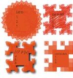 De vectorlijst van  Stock Illustratie