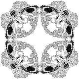 De vectormandalakleuring van de illustratie hoopoe vogel ontspant royalty-vrije illustratie