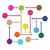 De vectormarkeringen van de informatie grafische pijl Royalty-vrije Stock Foto's