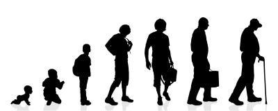 De vectormensen van de silhouetgeneratie Stock Foto