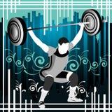 De vectormensen van Weightlifting Royalty-vrije Stock Afbeeldingen