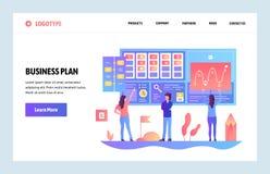 De vectorontwerpsjabloon van de websitegradiënt businessplan en marketing dashboard Het landen paginaconcepten voor website en royalty-vrije illustratie