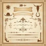 De vectorornamenten van Wilde Westennen stock illustratie