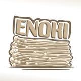 De vectorpaddestoelen van embleemenoki stock illustratie