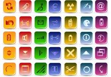 De vectorpictogrammen van Colorfull Stock Foto's