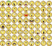 De VectorPictogrammen van de emotie van Emoticons Stock Foto's