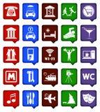 De vectorpictogrammen van de kleurennavigatie Stock Fotografie