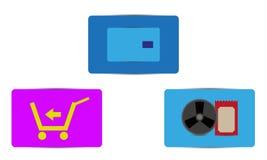 De vectorpictogrammen van de kleurenverkoop Royalty-vrije Stock Foto