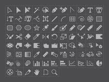De vectorpictogrammen van het Illustratiehulpmiddel royalty-vrije illustratie
