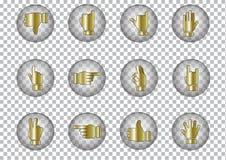 De vectorpictogrammen van symboolhanden, illustratie Royalty-vrije Stock Foto