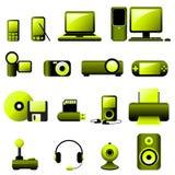 De VectorPictogrammen van verschillende media Royalty-vrije Stock Foto