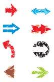De vectorpijlen van Grunge Royalty-vrije Stock Afbeelding