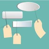 De vectorprijskaartjes, de banners en de etiketten van ontwerpelementen Royalty-vrije Stock Fotografie
