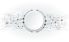 De vectorraad van de illustratie Abstracte futuristische witte kring Stock Afbeelding