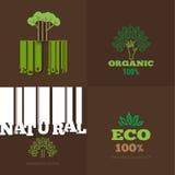 De vectorreeks of de organische tekens en het embleem ontwerpen elementen - eco en B Royalty-vrije Stock Afbeelding