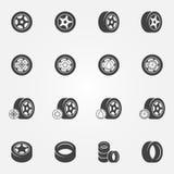 De vectorreeks van bandpictogrammen Royalty-vrije Stock Afbeelding