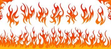 De vectorreeks van brandvlammen royalty-vrije illustratie