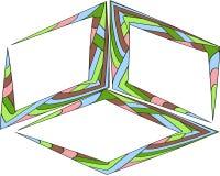 De vectorreeks van citaat vormt malplaatje Kleurrijke heldere achtergronden Kader van de waterverf het overlappende borstel Lege  royalty-vrije illustratie