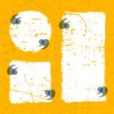 De vectorreeks van citaat vormt malplaatje Witte en gele grungeachtergrond Royalty-vrije Stock Fotografie