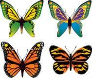 De vectorreeks van de vlinder Stock Foto's