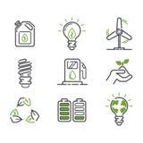 De vectorreeks van energiepictogrammen vector illustratie