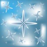 De vectorreeks van fonkeling steekt sterren aan Stock Afbeelding