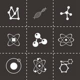 De vectorreeks van het atoompictogram Royalty-vrije Stock Fotografie