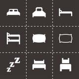 De vectorreeks van het bedpictogram Royalty-vrije Stock Foto