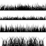 De vectorreeks van het gras Stock Foto's