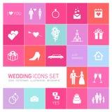 De vectorreeks van het huwelijkspictogram Royalty-vrije Stock Foto