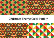 De vectorreeks van het Kerstmispatroon Stock Foto