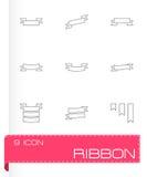 De vectorreeks van het lintpictogram Stock Afbeelding