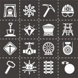 De vectorreeks van het mijnbouwpictogram Royalty-vrije Stock Fotografie