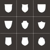 De vectorreeks van het schildpictogram Stock Foto's