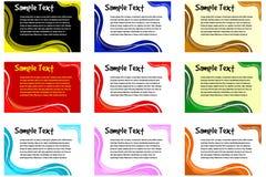 De vectorreeks van het tekstkader Stock Afbeelding